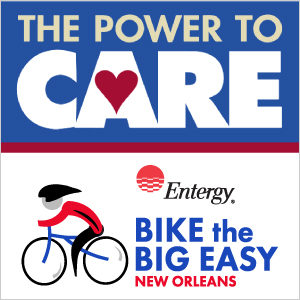 bike the big easy and the power to care logo